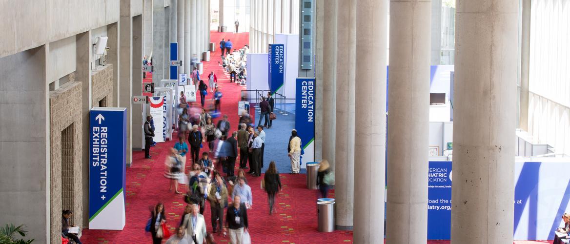 Hall of psychiatry congress in Atlanta.